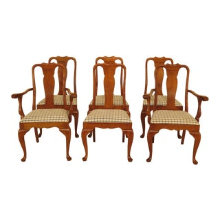 Stickley Cherry Valley Queen Anne Dining Chairs - Set of 6 For Sale