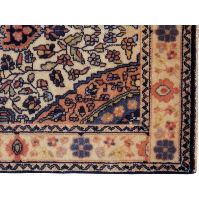 """Antique Persian Sarouk Farahan Rug - 2'1"""" x 4'2"""" - Image 2 of 2"""