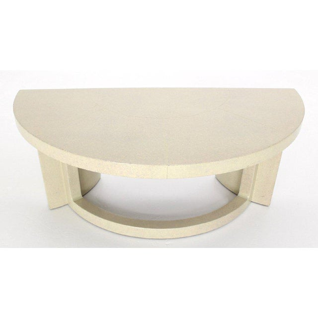 Mid-Century Modern Paul Frankl Demilune Console Table For Sale - Image 6 of 9