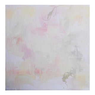 """Large Abstract Minimalist Oil Painting by Trixie Pitts """"Love Trek"""""""