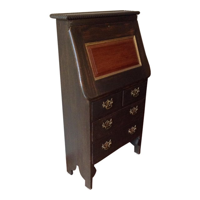 19th Century Arts and Craft Oak Secretary Desk For Sale