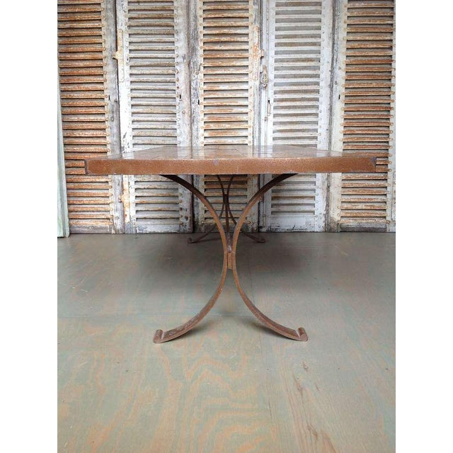 French 1960s Dining Table With Ceramic Tiled Top - Image 5 of 11