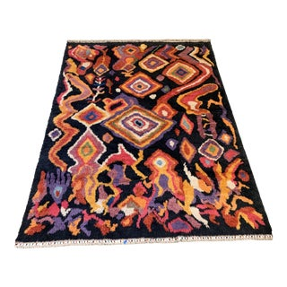 "Turkish Moroccan-Style Shag Rug 8'9""x13'3"" For Sale"