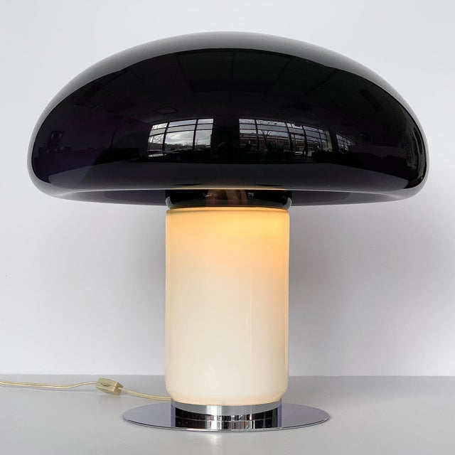 Vistosi Purple / Amethyst Murano Glass Mushroom Table Lamp For Sale In Chicago - Image 6 of 13