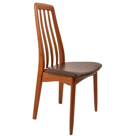 Slim Teak Tall Danish Dining Chairs - Set of 4 - Image 5 of 6