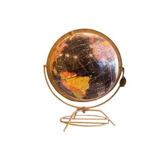 Mid Century Cram's George F Cram Black Globe For Sale
