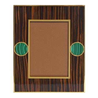 Brown Macassar Photo Frames With Malachite For Sale
