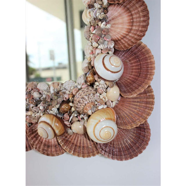 Glass Seashell Encrusted Mirror by Snob Galeries For Sale - Image 7 of 13
