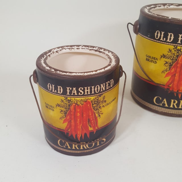 2010s Carrot Canister Containers - Set of 3 For Sale - Image 5 of 8