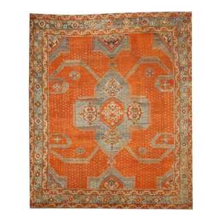 Antique Turkish Oushak Area Rug with Modern Design