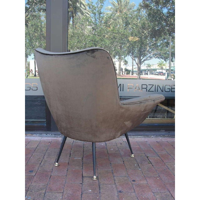 1950s Pair of Italian Open-Arm Chairs For Sale - Image 5 of 7