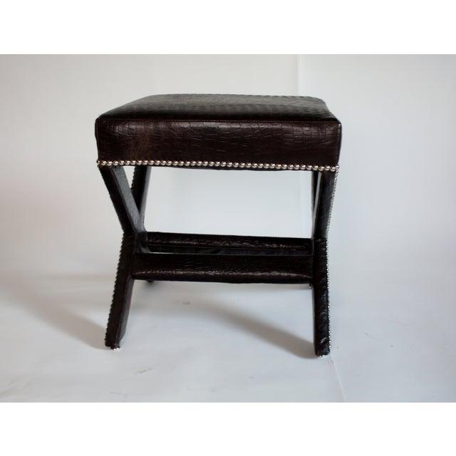 Stupendous Leather X Bench Machost Co Dining Chair Design Ideas Machostcouk
