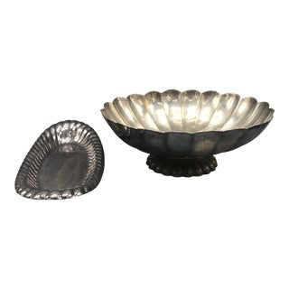 Reed & Barton Silver Plate Compote and Long Dish - 2 Pieces For Sale