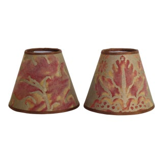 Fortuny Glicine Lampshades - a Pair For Sale