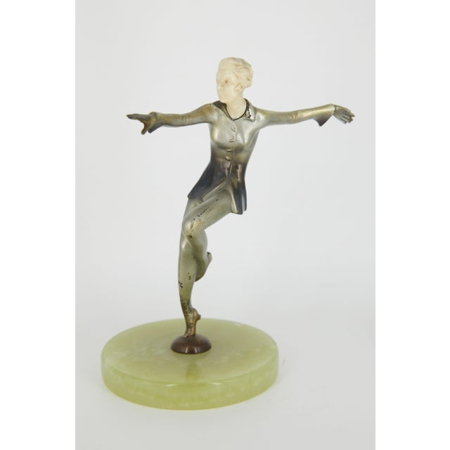 Josef Lorenzl Art Deco Cold-Painted Silvered Dancer Sculpture For Sale - Image 4 of 6
