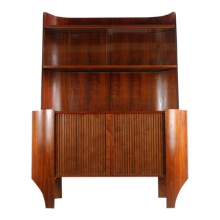 1960s Mid-Century Modern Henry Glass Rare Tambour Credenza/Buffet For Sale