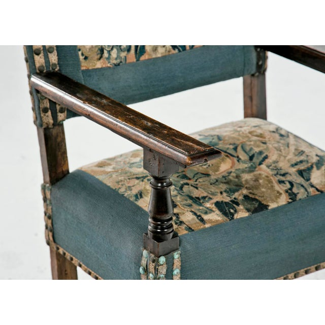 Italian 18th Century Italian Walnut Arm Chair For Sale - Image 3 of 6