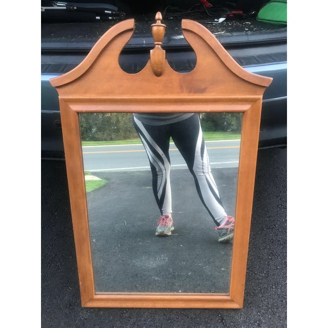Ethan Allen Ethan Allen Mid Century Baumritter Mirror With Finial For Sale - Image 4 of 5