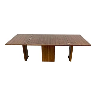 Rare Afra & Tobia Scarpa Convertible Extension Dining Table From the Artona Series Maxalto For Sale