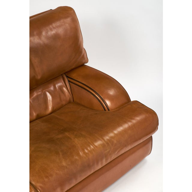 Vintage Baxter Italian Leather Sofa For Sale - Image 9 of 10