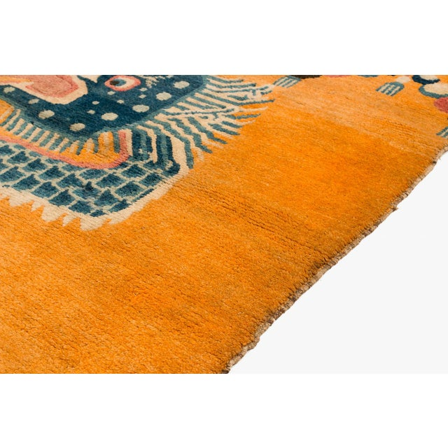 """19th Century Dragon Rug-4'1'x5'4"""" For Sale In New York - Image 6 of 10"""