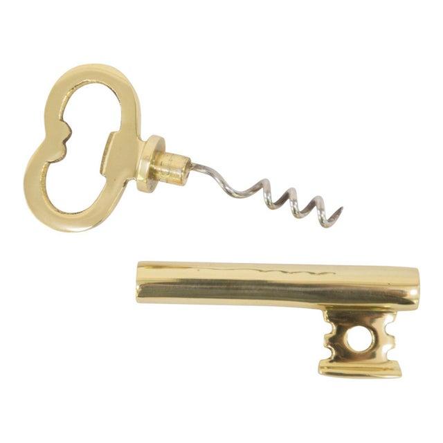 English Traditional Skeleton Key Bottle Opener and Corkscrew For Sale - Image 3 of 3