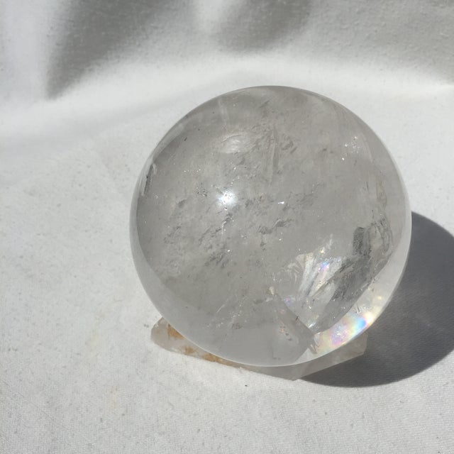 Large Quartz Crystal Ball - Image 5 of 9