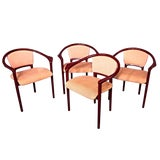 Image of Italian Red Lacquer Dining Chairs - Set of 4 For Sale