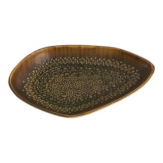 Rare Mid-Century Modern French St Clément Abstract Shaped Centerpiece Bowl For Sale