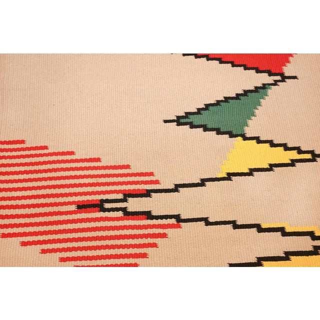 Vintage French Kilim Rug by Antonin Kybal - 4′3″ × 10′10″ For Sale - Image 4 of 8