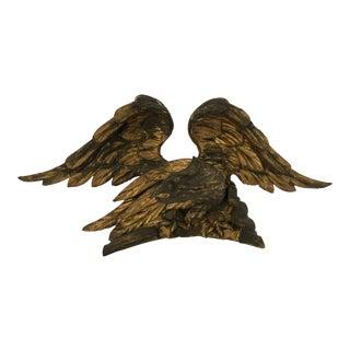 Antique Gilt Architectural Fragment of Eagle For Sale