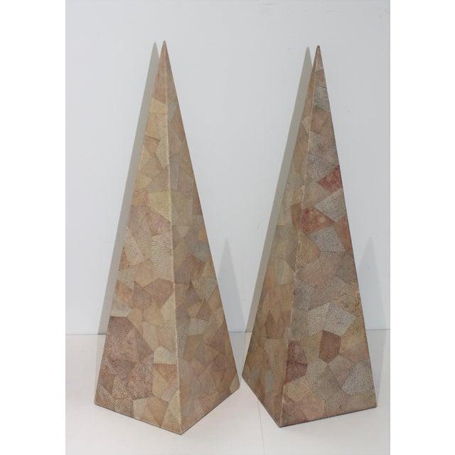 Vintage Maitland-Smith Shagreen Obelisks - a Set of 2 For Sale - Image 11 of 11