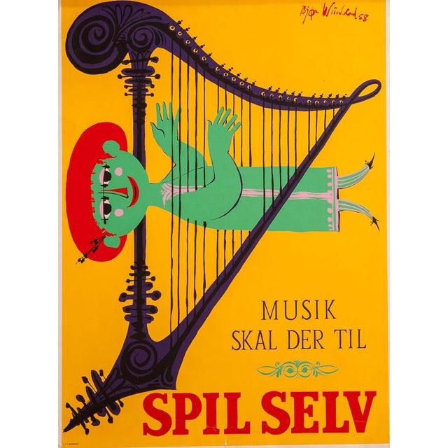 Mid-Century Modernist Art Poster by Bjorn Wiinblad For Sale
