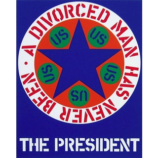 Robert Indiana A Divorced Man Has Never Been The President 1997 For Sale