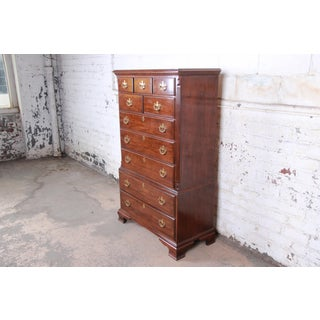 Drexel Chippendale Style 10-Drawer Solid Cherry Highboy Dresser Preview