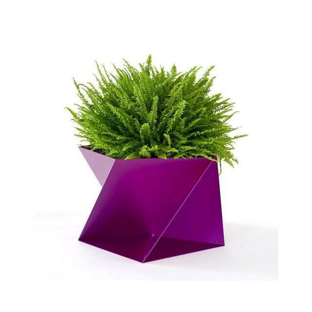 Trey Jones Studio Fuchsia Pentagami Planter For Sale - Image 4 of 4
