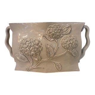 Gray Hydrangea Ceramic Vase