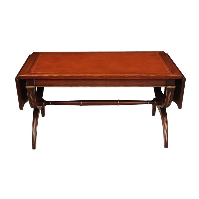 Regency Style Drop-Leaf Coffee Table For Sale
