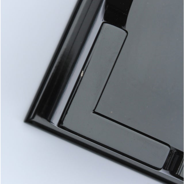 "Oomph ""Edgartown"" Square Black Lacquer Tray - Image 6 of 8"