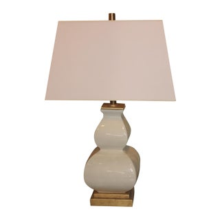 Gold Base Ivory Lamp