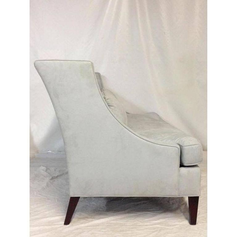 Contemporary American Made Upholstered Settee   Image 3 Of 6