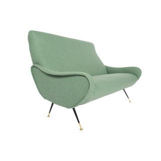 Italian Mid Century Loveseat in the Style of Marco Zanuso For Sale