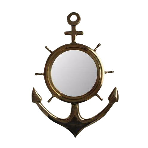 Brass Anchor Mirror - Image 1 of 3