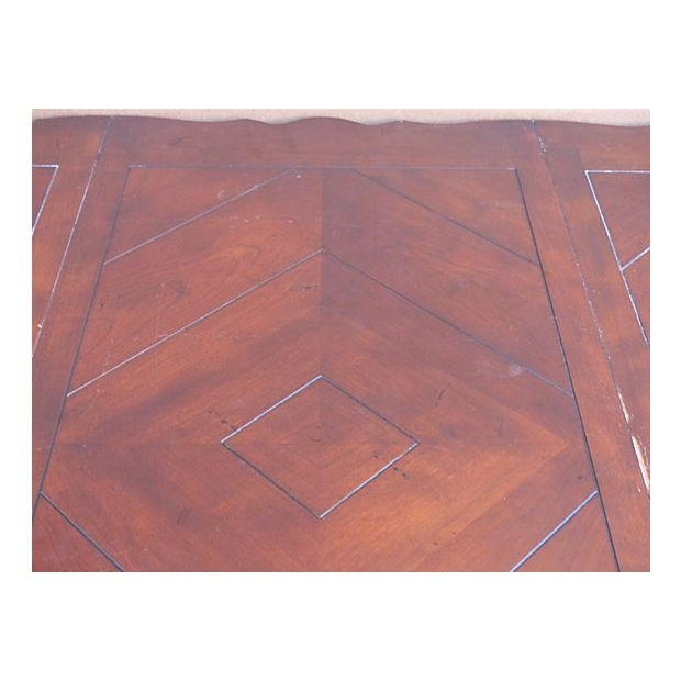 Extendable Parquet-Style Dining Table - Image 5 of 10