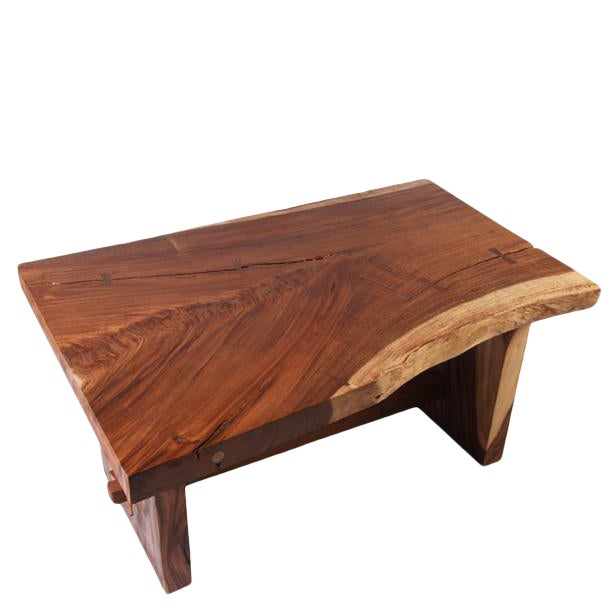 Organic Modern Living Edge Dining Table For Sale