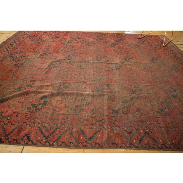 "Vintage Ersari Carpet - 8'2"" X 9'8"" For Sale - Image 9 of 10"