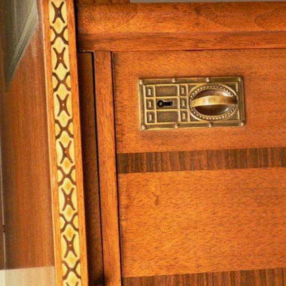 Jugendstil Desk after Olbrich For Sale In New York - Image 6 of 7