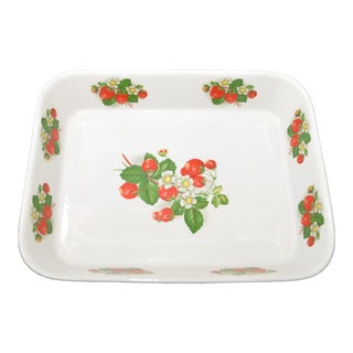 Portmerian Strawberry Rectangular Baking Dish