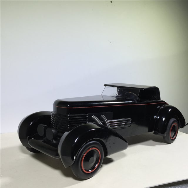 Art Deco Cord 1930 Limited Edition Wood Model Car For Sale - Image 3 of 10
