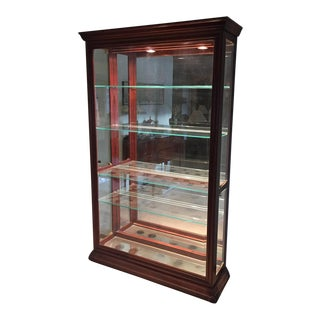 Museum-Style Lighted Display Case